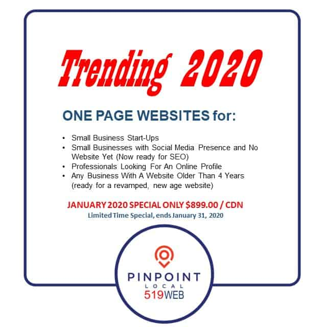 One Page Website 2020
