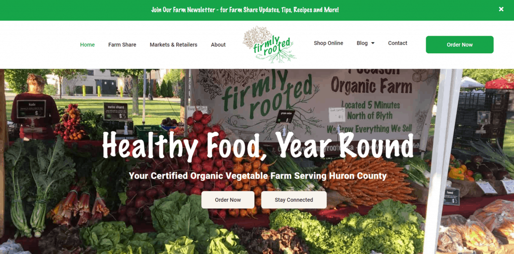 Firmly Rooted Farm eCommerce Website